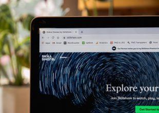 E-learning - komputer, kurs online